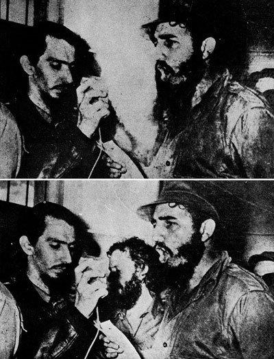 Carlos Franqui es borrado de una foto junto a Fidel Castro