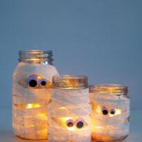 Hazlo tú mismo: farolillos momia para Halloween
