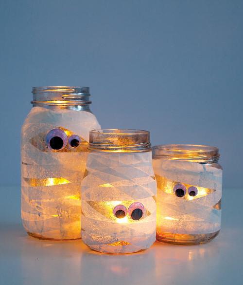 Washi Tape Mummy Lanterns