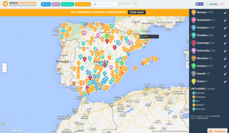 Mapa del emprendimiento en España 2014