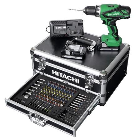 Por 189 euros puedes hacerte con este completo set de taladro atornillador Hitachi DS18DJL WK en Amazon