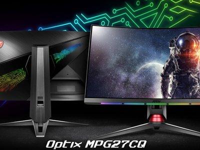 Sigue creciendo el catálogo de monitores gaming con dos nuevos lanzamientos de MSI: son el Optix MPG27CQ y Optix MPG27C