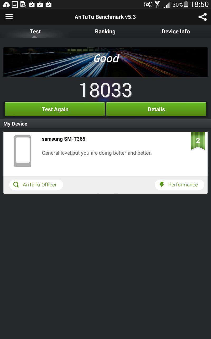 Benchmark Samsung Galaxy Tab Active 1 13
