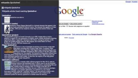 Busqueda en wikipedia del ternimo Quicksilver
