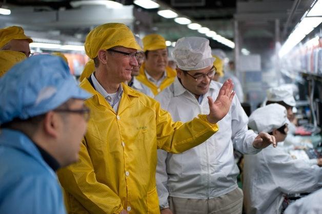 tim cook foxconn china visita fábricas