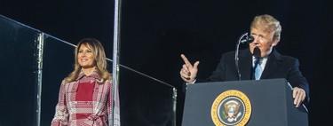 Melania Trump enciende las luces de Navidad de la Casa Blanca con un abrigo ideal