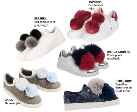 Caer s en la tentaci n de lucir unas zapatillas con pomp n - Pompones para zapatillas ...