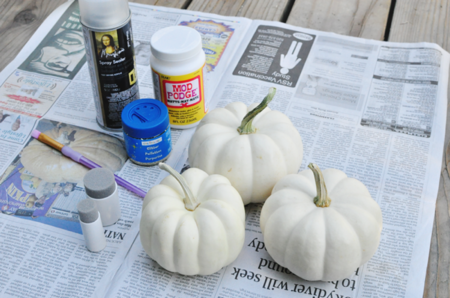 Calabazas Purpurina Materiales