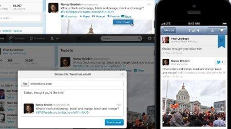 Compartir un tweet por correo, la nueva característica de Twitter