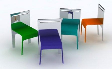 Mirror chair, una silla con respaldo de espejo