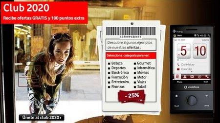 Club 2020 de Vodafone: puntos a cambio de publicidad