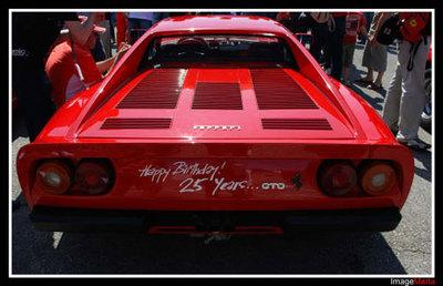 25 aniversario del Ferrari 288 GTO en el circuito de Montmeló