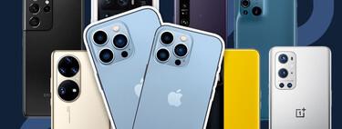 Comparativa de los iPhone 13 Pro y Pro Max frente al Samsung Galaxy S21 Ultra, Xiaomi Mi 11 Ultra, Sony Xperia 1 y los mejores móviles del momento