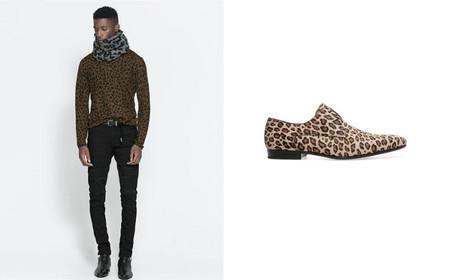 print leopardo camisa zapatos zara
