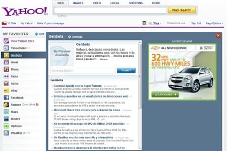 Yahoo estrena nueva página de inicio