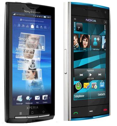 Sony Ericsson XPERIA X10 y Nokia X6 llegarán con Vodafone