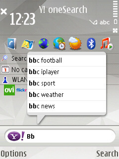 Yahoo! oneSearch para S60