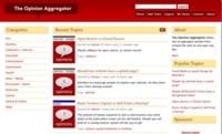 The Opinion Aggregator, comunidad de opinadores sobre diversos temas