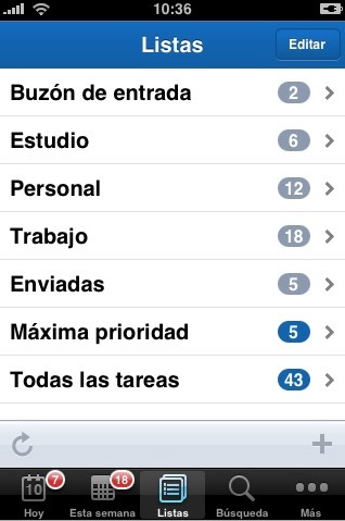 RTM para iPhone/iPod Touch