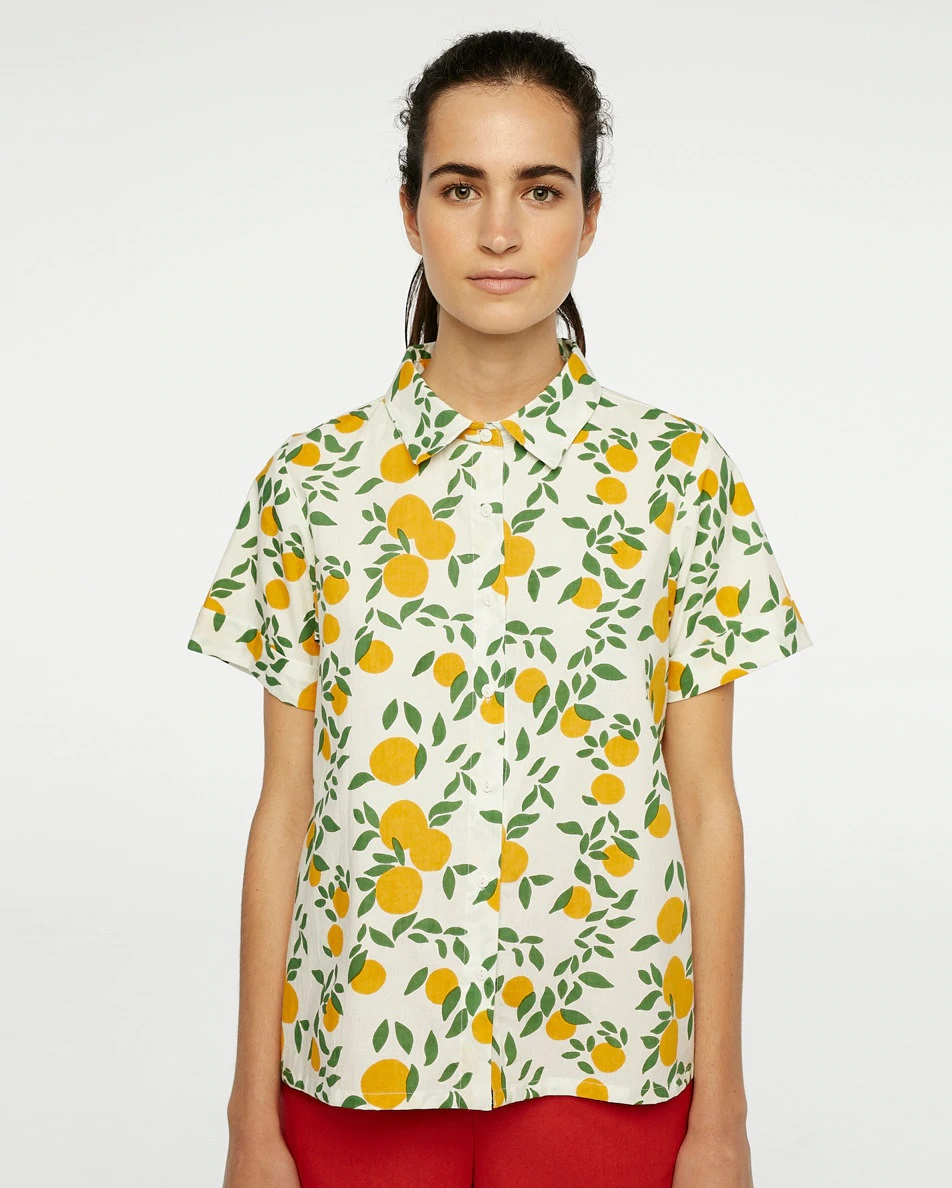 Camisa con estampado de limones de Compañía Fantástica