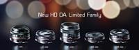 Pentax presenta cinco nuevos objetivos HD DA, en edición limitada