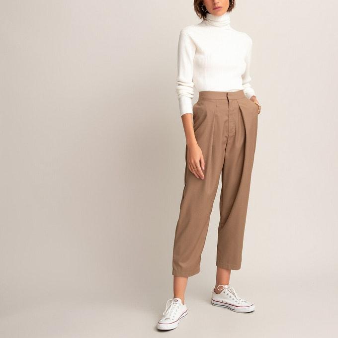 Pantalones anchos en color camel
