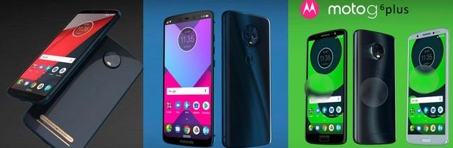 Así serían los Moto Z3, Moto X5 y Moto G6 de Lenovo según una filtración: 5G y pantalla 18:9