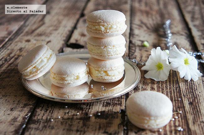 Macarons de vainilla