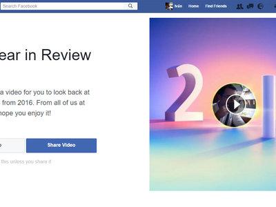 Cómo crear y editar tu vídeo resumen del año de Facebook desde su aplicación