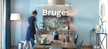 El color azul es la nueva tendencia en decoración de interior para este otoño con la colección Bruges de Maisons du Monde