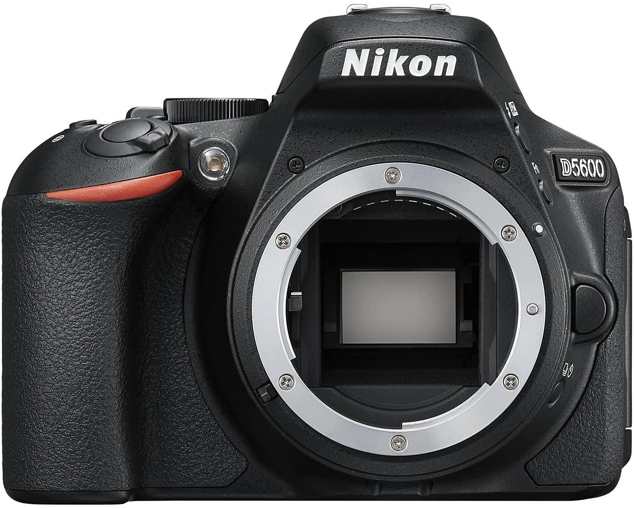 Nikon D5600 Cuerpo de la cámara SLR 24,2 MP CMOS 6000 x 4000 Pixeles Negro - Cámara Digital (24,2 MP, 6000 x 4000 Pixeles, CMOS, Full HD, Pantalla táctil, Negro)