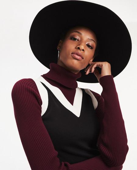 Jersey de mujer muticolor de cuello alto (TOMMY X ZENDAYA)