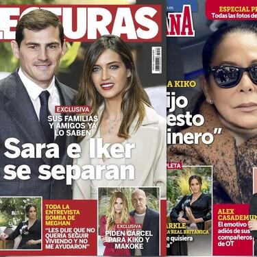 La separación de Iker Casillas y Sara Carbonero, la contundente respuesta de la Pantoja a su hijo Kiko y Matamoros y Makoke a prisión: Estas son las portadas de la semana del 10 de marzo