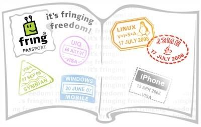 minifring, fring para móviles con Java