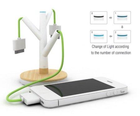 Un arbolito para cargar tus gadgets, un concepto ideal