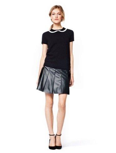 Zara Trafaluc falda cuero