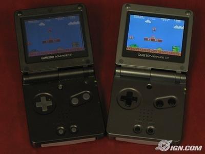 Game Boy Advance SP con nueva pantalla