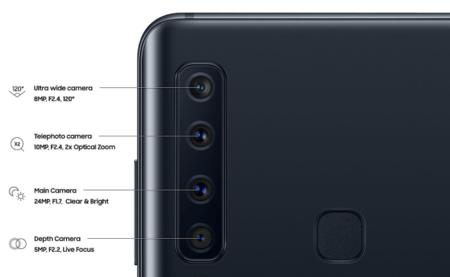 Las cuatro cámaras del Samsung Galaxy A9 2018