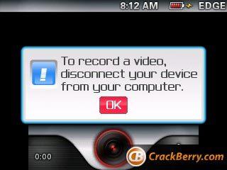 Grabación de vídeo para las Blackberry muy pronto
