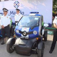 En Mérida, Yucatán, las patrullas de la policía ahora son coches eléctricos
