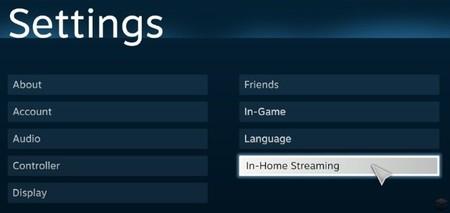 In-Home, el streaming de juegos de Steam