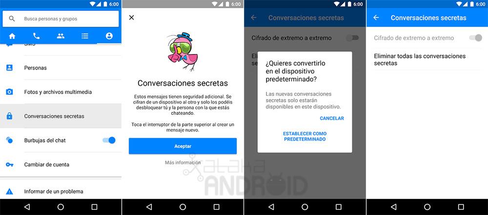 Messenger Conversaciones Secretas Android