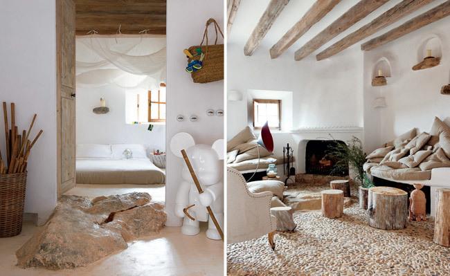 Una casa muy natural - dormitorio y salón