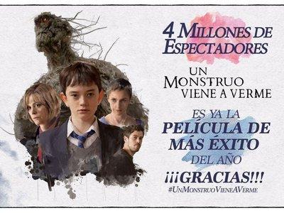 'Un monstruo viene a verme' es la película más vista de 2016 en España