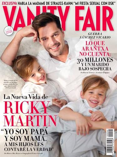 Se me cae toda la baba con Ricky Martin y sus nenes en Vanity Fair
