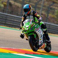 Adrián Huertas se lleva una confusa victoria en Supersport 300 en una carrera acabada con bandera roja