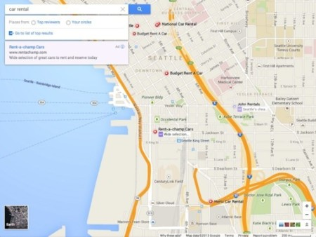 google maps interfaz diseño