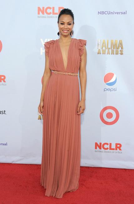 Zoe Saldaña Alma Awards