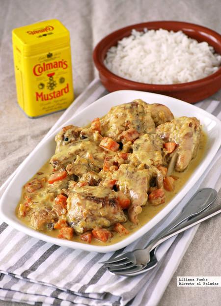 Receta de conejo en salsa de mostaza y zanahoria