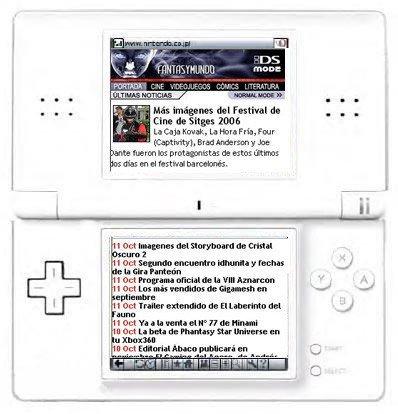 """Fantasymundo presenta """"Fantasymundo DS Mode"""" para Nintendo DS Browser"""